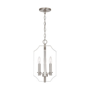 HomePlace Myles Brushed Nickel 10-Inch Four-Light Foyer Pendant