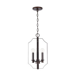HomePlace Myles Bronze 10-Inch Four-Light Foyer Pendant