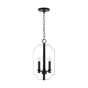HomePlace Myles Matte Black 10-Inch Four-Light Foyer Pendant