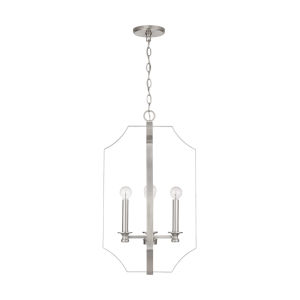 HomePlace Myles Brushed Nickel Four-Light Foyer Pendant
