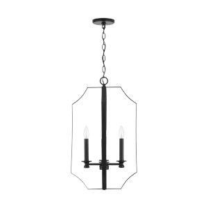 HomePlace Myles Matte Black Four-Light Foyer Pendant