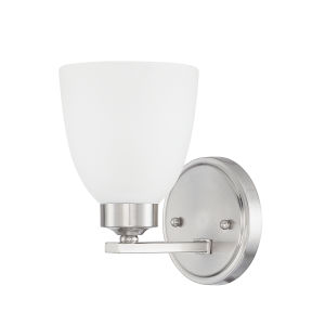 HomePlace Jameson Brushed Nickel Nine-Inch One-Light Wall Sconce