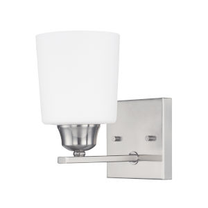 HomePlace Hayden Brushed Nickel Eight-Inch One-Light Wall Sconce