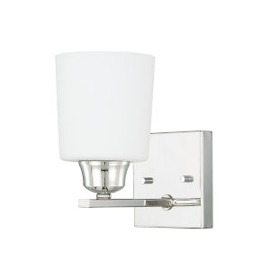 HomePlace Hayden Polished Nickel Eight-Inch One-Light Wall Sconce