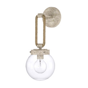 Beaufort Gray Seven-Inch One-Light Sconce