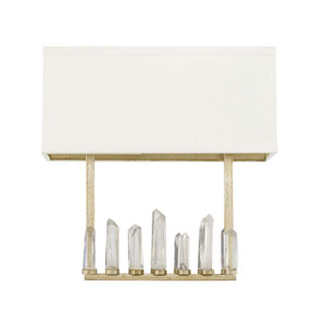 Adira Winter Gold Two Light Sconce