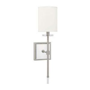 Brushed Nickel One-Light Sconce