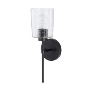 HomePlace Greyson Matte Black 16-Inch One-Light Wall Sconce