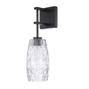 Matte Black One-Light Sconce