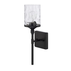 HomePlace Colton Matte Black 17-Inch One-Light Wall Sconce