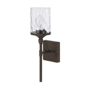 HomePlace Collier Urban Brown 17-Inch One-Light Wall Sconce