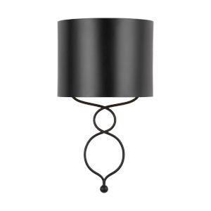 Sonnet Matte Black Nine-Inch One-Light Sconce