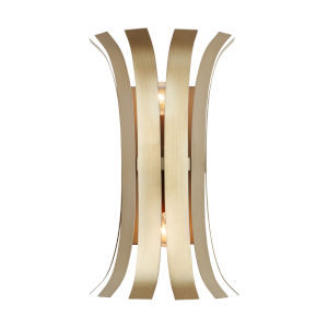Cayden Aged Brass Painted Two-Light Sconce