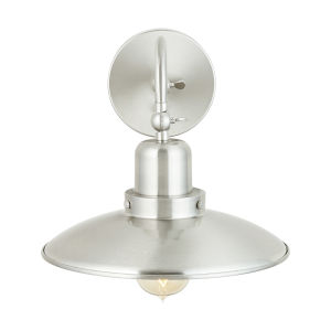 Brushed Nickel 10-Inch One-Light Sconce