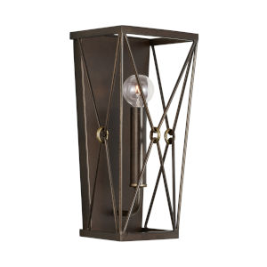 Adrian Buffed Bronze One-Light Sconce