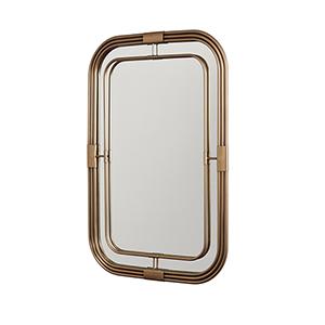 Aged Brass 28-Inch Mirror