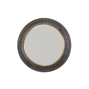 Mirror Galvanized Black and True Brass 32-Inch Mirror