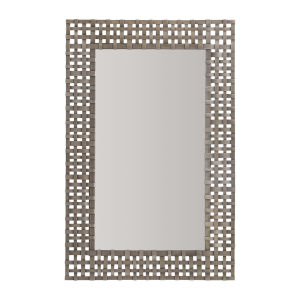 Antique Nickel 26-Inch Mirror