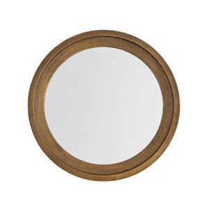 Oxidized Brass 33 x 33 Inch Round Decorative Mirror