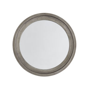 Oxidized Nickel 32 x 32 Inch Round Decorative Mirror