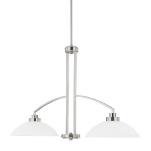 HomePlace Island Brushed Nickel 37-Inch Two-Light Pendant