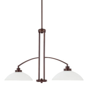 HomePlace Island Bronze 37-Inch Two-Light Pendant