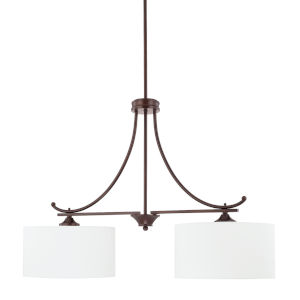 HomePlace Island Bronze 36-Inch Two-Light Pendant