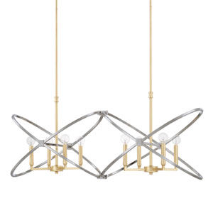 Fire and Ice Gold Eight-Light Island Pendant
