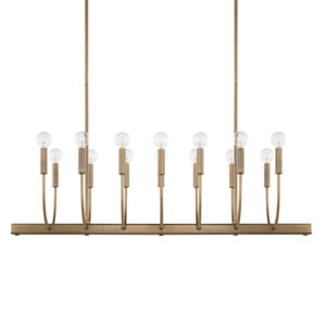 Zander Aged Brass 14-Light Island Pendant