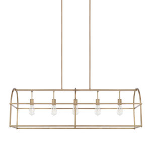 HomePlace Aged Brass 46-Inch Five-Light Pendant