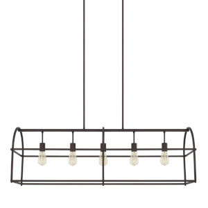 HomePlace Bronze 46-Inch Five-Light Pendant