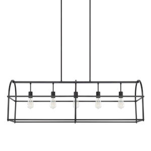 HomePlace Matte Black 46-Inch Five-Light Pendant