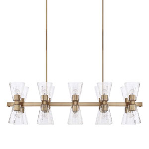 Lyra Aged Brass 20-Light Island Pendant