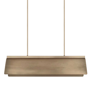 Wells Aged Brass Eight-Light Island Pendant