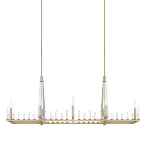 Adira Winter Gold Eight-Light Island Pendant