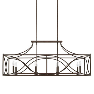 Tybee Nordic Grey Eight-Light Island Pendant