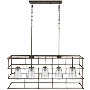 Turner Nordic Grey Five-Light Island