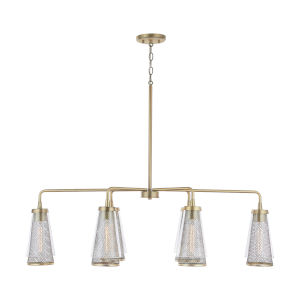 Abbott Aged Brass Six-Light Island Pendant
