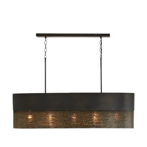 Sana Gray Iron Five-Light Island Pendant