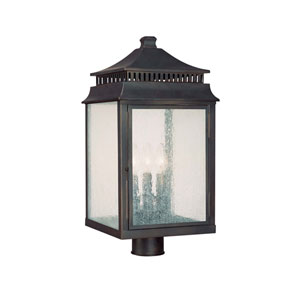 Sutter Creek Old Bronze Three-Light Outdoor Post Lantern
