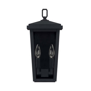 Donnelly Black Seven-Inch Two Light Outdoor Wall Lantern