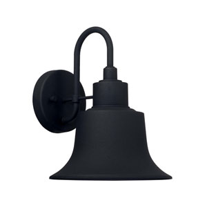 Brock Black Nine-Inch One-Light Outdoor Wall Lantern