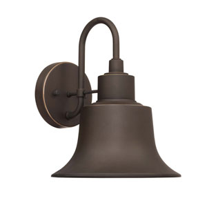 Brock Oil Rubbed Bronze Nine-Inch One-Light Outdoor Wall Lantern