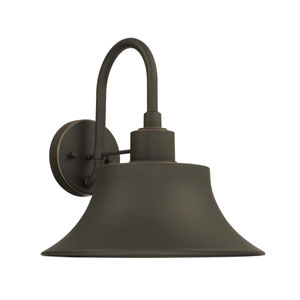 Brock Oil Rubbed Bronze 13-Inch One-Light Outdoor Wall Lantern