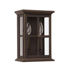 Mansell Oil Rubbed Bronze Seven-Inch Two Light Outdoor Wall Lantern