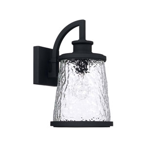 Tory Black Eight-Inch One-Light Outdoor Wall Lantern