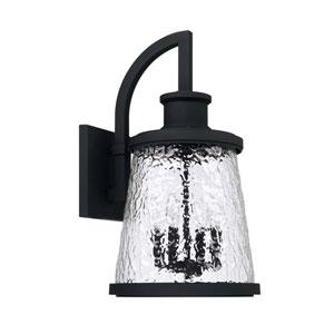 Tory Black Four-Light Outdoor Wall Lantern