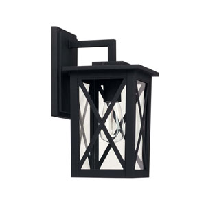 Avondale Black One-Light Outdoor Wall Lantern
