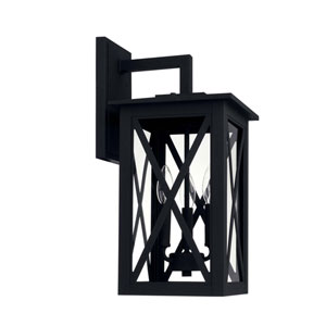Avondale Black Three-Light Outdoor Wall Lantern