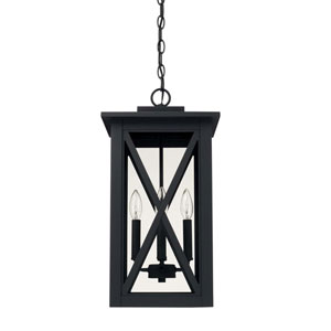Avondale Black Four-Light Outdoor Hanging Lantern